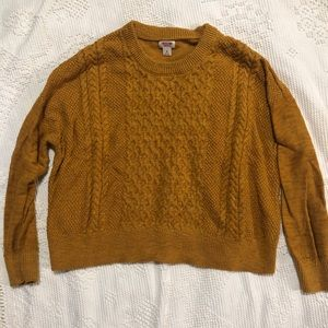 Mustard sweater from Target!